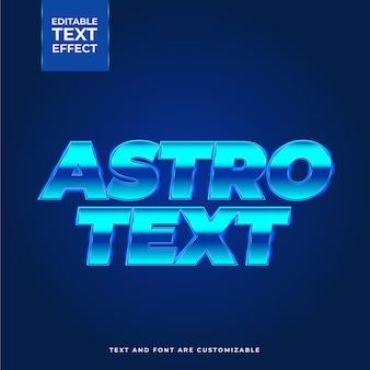 Efeito de texto criativo astro