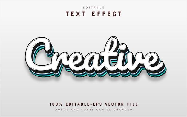 Efeito de texto criativo editável