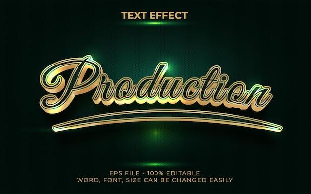 Efeito de texto criativo estilo dourado efeito de texto editável