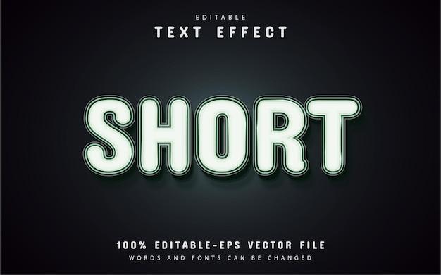 Efeito de texto curto editável