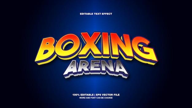 Efeito de texto da arena de boxe