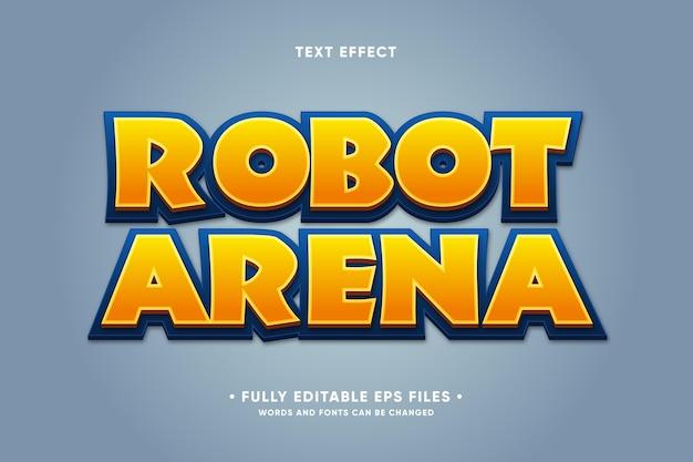 Efeito de texto da arena do robô
