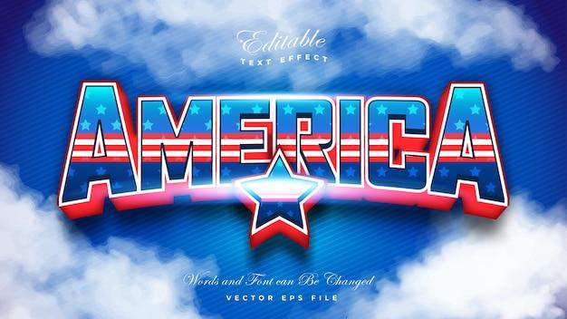 Efeito de texto da bandeira americana