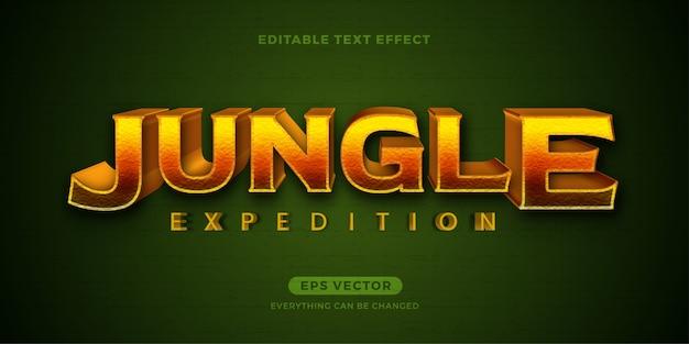 Efeito de texto da expedição na selva