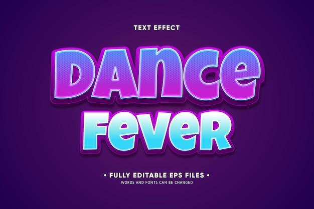 Efeito de texto da febre da dança