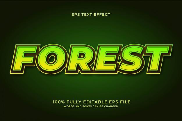 Efeito de texto da floresta