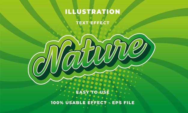 Efeito de texto da natureza