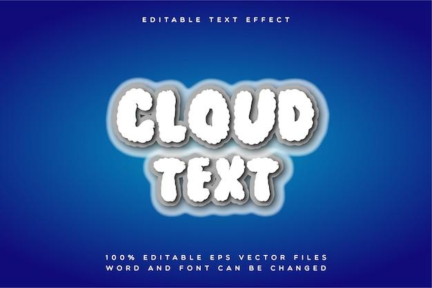 Efeito de texto da nuvem criativa