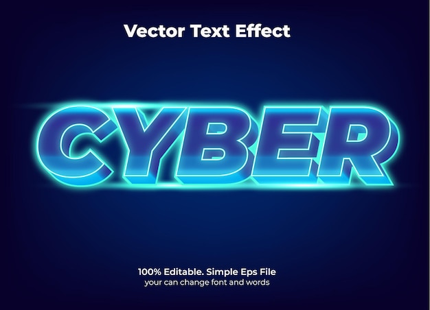 Efeito de texto da promoção cyber segunda-feira editável