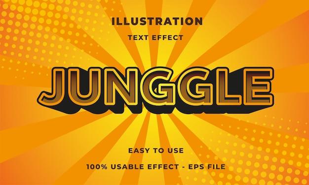 Efeito de texto da selva