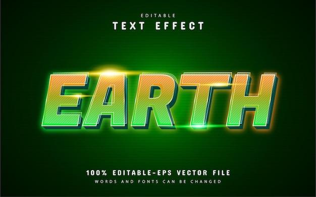 Efeito de texto da terra com gradiente laranja verde