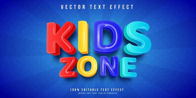 Efeito de texto da zona infantil