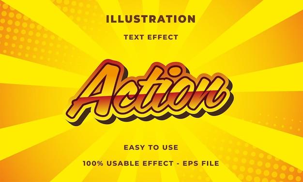Efeito de texto de ação