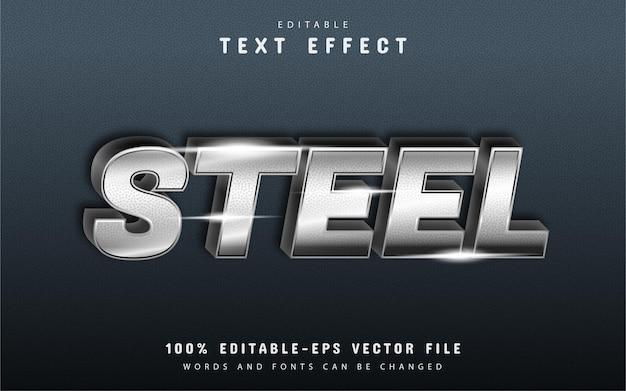 Efeito de texto de aço