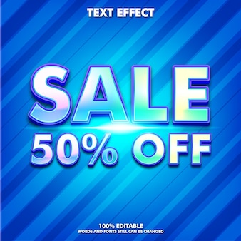 Efeito de texto de adesivo de venda editável para negócios