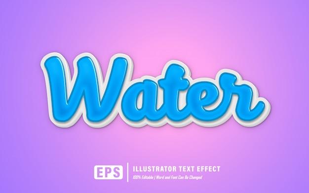 Efeito de texto de água - editável