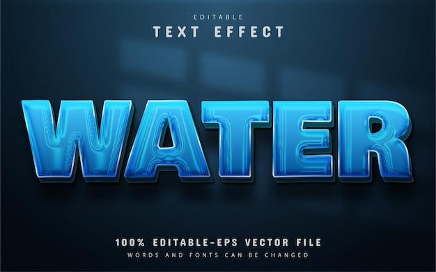 Efeito de texto de água editável