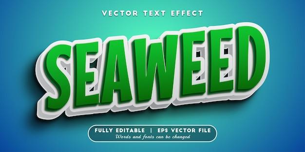 Efeito de texto de algas marinhas com estilo de texto editável
