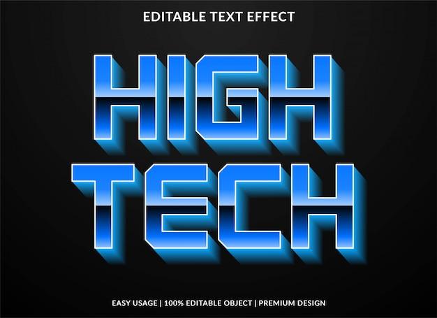 Efeito de texto de alta tecnologia