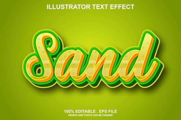 Efeito de texto de areia editável