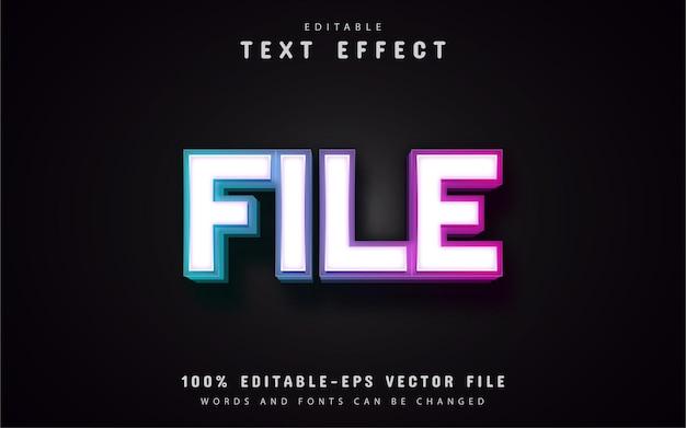 Efeito de texto de arquivo