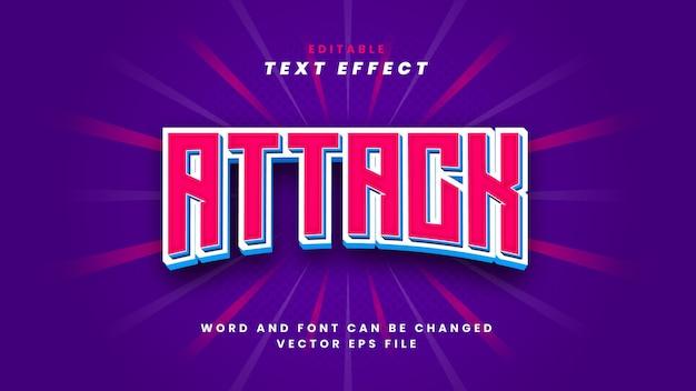 Efeito de texto de ataque
