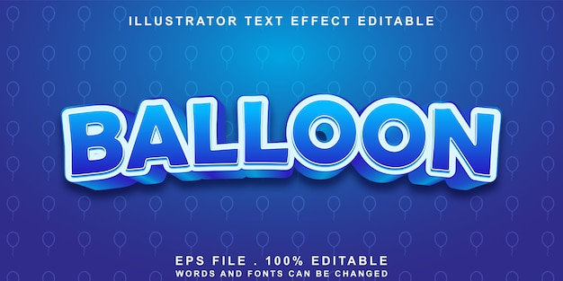 Efeito de texto de balão editável