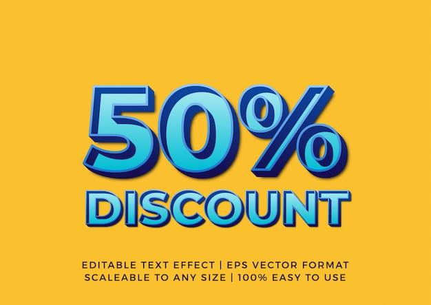 Efeito de texto de banner de promoção em relevo 3d