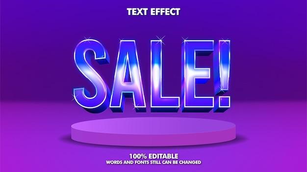 Efeito de texto de banner de venda editável