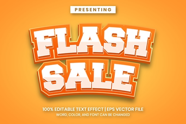Efeito de texto de banner de venda em flash