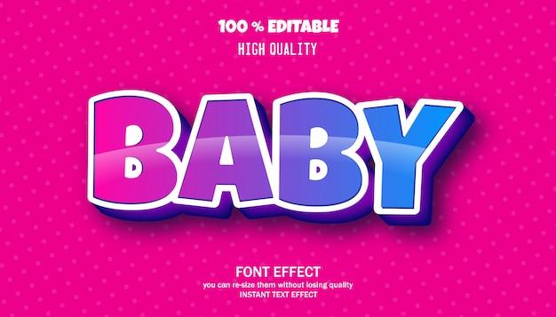 Efeito de texto de bebê