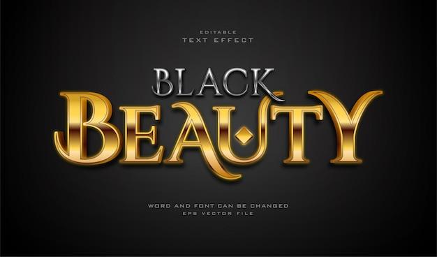 Efeito de texto de beleza negra