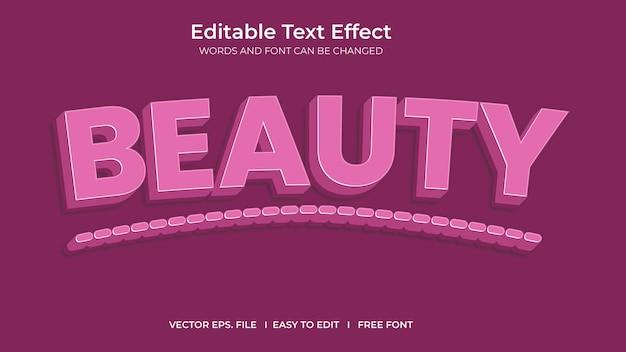 Efeito de texto de beleza