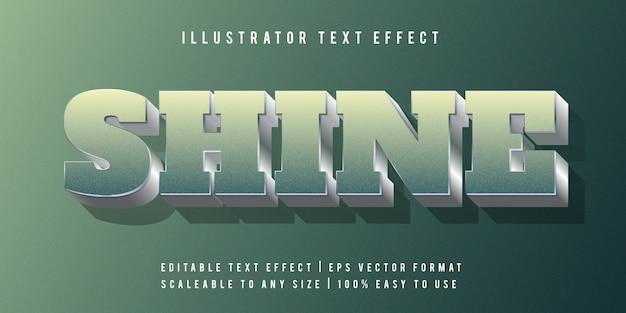 Efeito de texto de bloco de prata verde