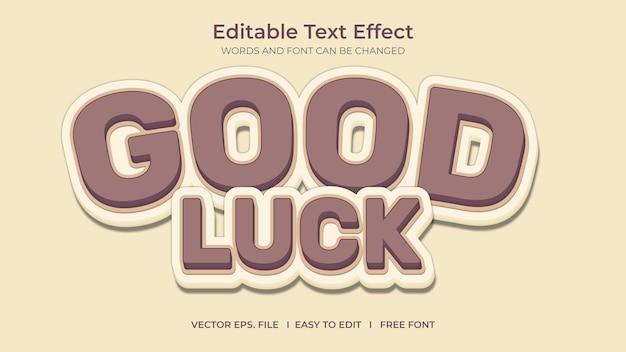 Efeito de texto de boa sorte