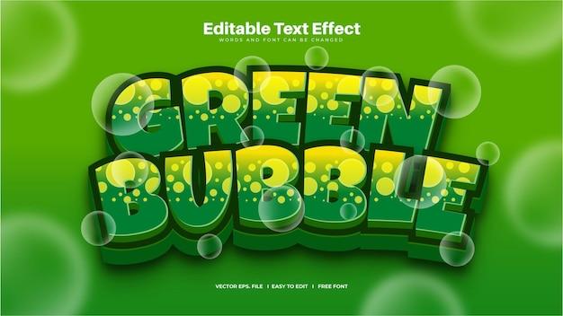 Efeito de texto de bolha verde