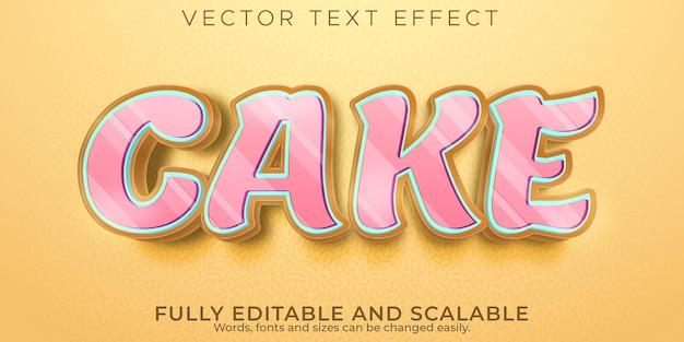 Efeito de texto de bolo