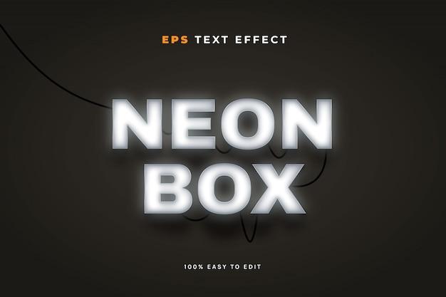 Efeito de texto de caixa de néon