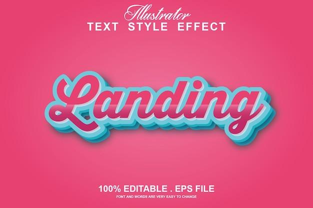 Efeito de texto de caixa editável isolado em rosa