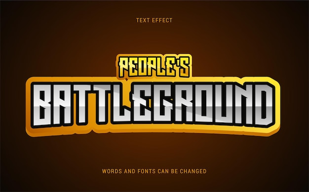 Efeito de texto de campo de batalha de povos editável eps cc