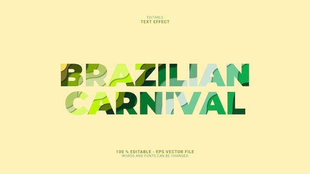 Efeito de texto de carnaval brasileiro