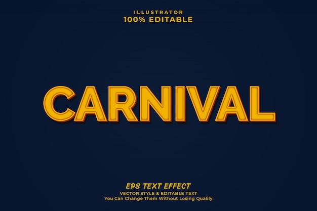 Efeito de texto de carnaval