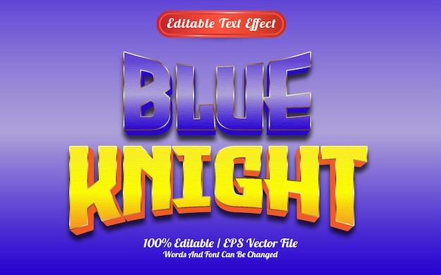Efeito de texto de cavaleiro azul