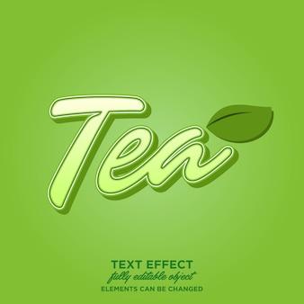 Efeito de texto de chá verde