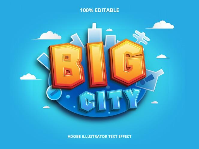 Efeito de texto de cidade grande editável
