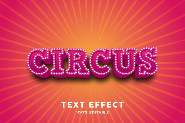 Efeito de texto de circo vermelho 3d