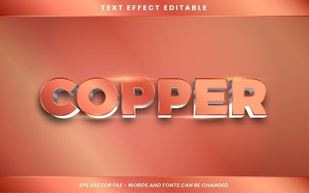 Efeito de texto de cobre em 3d