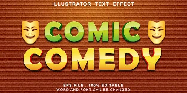 Efeito de texto de comédia em quadrinhos editável