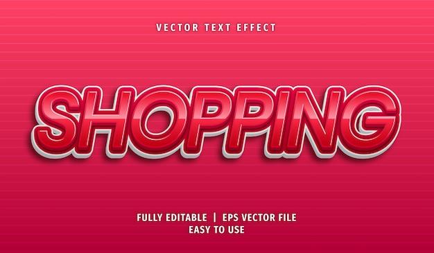 Efeito de texto de compras, estilo de texto editável