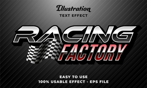 Efeito de texto de confronto de corrida